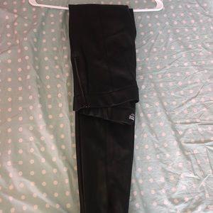 Zara faux leather cropped pants